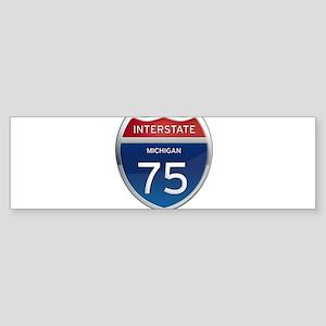 Michigan Interstate 75 Bumper Sticker