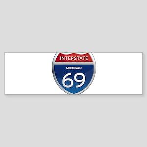 Michigan Interstate 69 Bumper Sticker