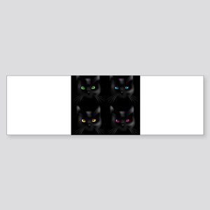 Black Cat Pattern Bumper Sticker