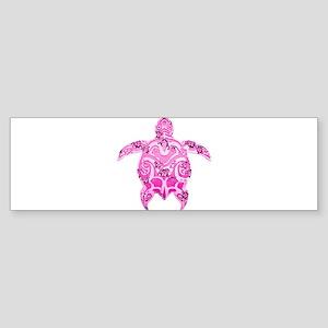 Pink Tribal Honu Turtle Bumper Sticker