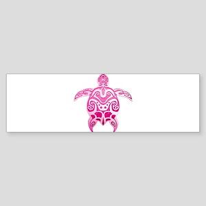 Pink Polynesian Turtle Bumper Sticker