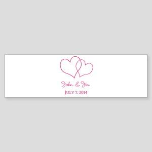 Custom Wedding Favor Bumper Sticker