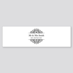 Custom Couples Name and wedding date Bumper Sticke