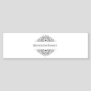 Personalized family name Bumper Sticker