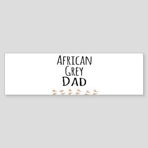 African Grey Dad Bumper Sticker