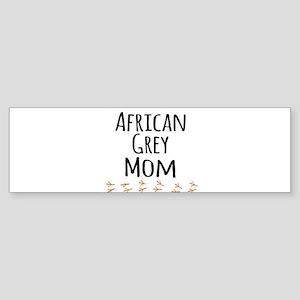 African Grey Mom Bumper Sticker