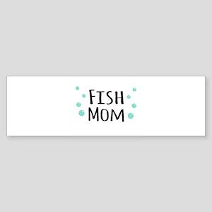 Fish Mom Bumper Sticker