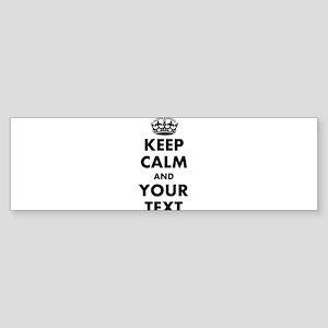 Personalized Keep Calm Bumper Sticker