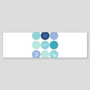Fringe Glyph Circles Bumper Sticker