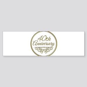 40th Anniversary Bumper Sticker
