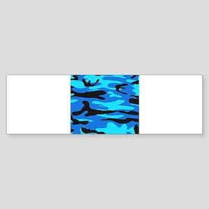 Bright Blue Army Camo Bumper Sticker