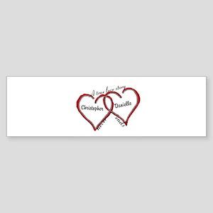 A true love story: personalize Bumper Sticker