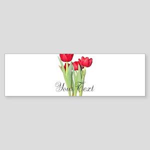 Personalizable Tulips Bumper Sticker