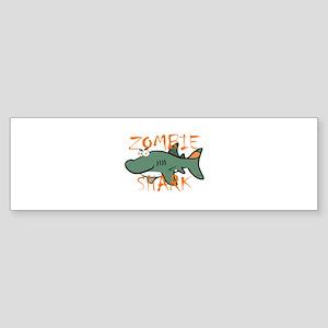 Zombie Shark Bumper Sticker