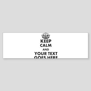 keep calm gifts Bumper Sticker