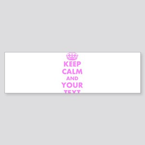 Pink keep calm and carry on Bumper Sticker