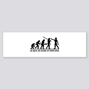 Go Back Evolution Bumper Sticker