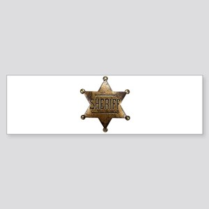 Sheriff Badge Bumper Sticker