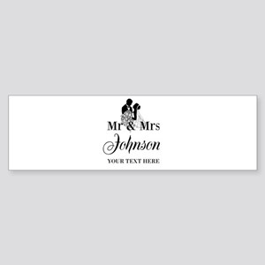 Personalized Mr and Mrs Bumper Sticker