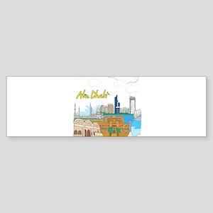 Abu Dhabi in the United Arab Emirates Bumper Stick