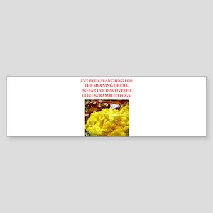 scrambled eggs Sticker (Bumper)