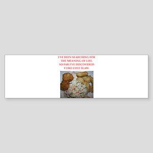 cole slaw Sticker (Bumper)