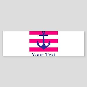 Personalizable Anchor Bumper Sticker
