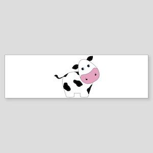Cute Black and White Cow Bumper Sticker