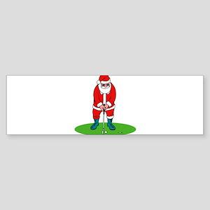 Santa plys golf Bumper Sticker