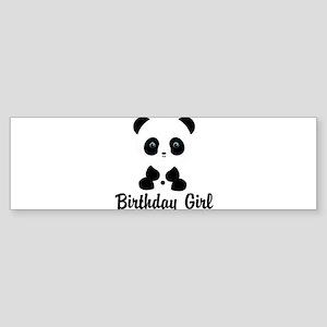 Birthday Girl Panda Bear Bumper Sticker