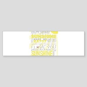 sunshine11 Bumper Sticker