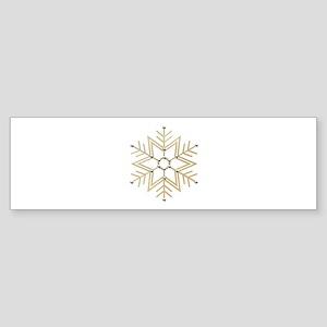 Gold and Silver Snowflake Sticker (Bumper)