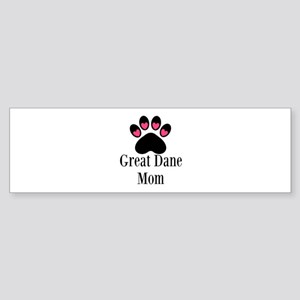 Great Dane Mom Paw Print Bumper Sticker