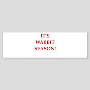 wabbit season Sticker (Bumper)