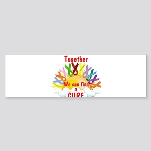 Together we can find a cure Bumper Sticker