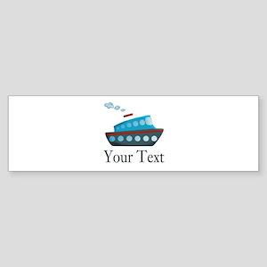 Personalizable Cruise Ship Bumper Sticker