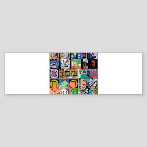 The Hebrew Alphabet Bumper Sticker