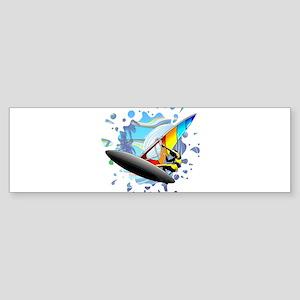 Windsurfer on Ocean Waves Bumper Sticker