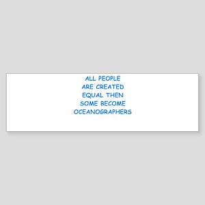 oceanographer Bumper Sticker