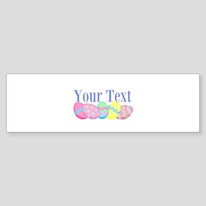 Personalizable Easter Eggs Blue Bumper Sticker