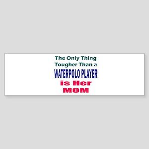 Her Tough Water Polo Mom Sticker (Bumper)