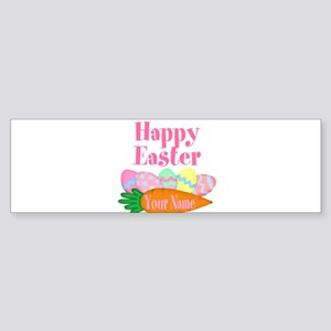 Happy Easter Carrot and Eggs Bumper Sticker