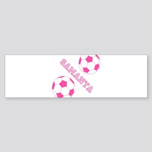 Soccer Girl Personalized Bumper Sticker