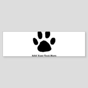 Paw Print Template Bumper Sticker