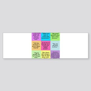 Pride and Prejudice Quotes Bumper Sticker
