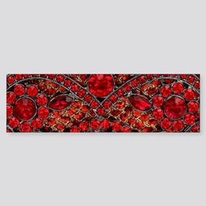 bohemian gothic red rhinestone Bumper Sticker