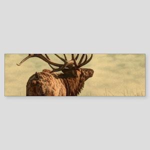 rustic western wild elk Bumper Sticker