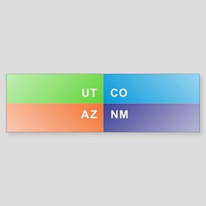 Four Corners - 4 Corners Bumper Sticker
