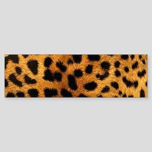 girly trendy leopard print Bumper Sticker