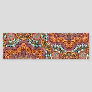 turquoise orange bohemian moroccan Bumper Sticker